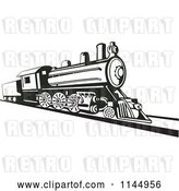 Vector Clip Art of Retro Train 2 by Patrimonio