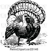 Vector Clip Art of Retro Turkey Bird by Prawny Vintage