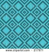 Vector Clip Art of Retro Turquoise Diamond Pattern Background by KJ Pargeter