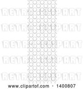Vector Clip Art of Retro Vertical Seamless Grayscale Circle Pattern by Dero