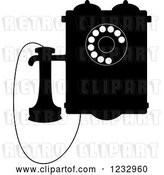 Vector Clip Art of Retro Wall Mounted Phone by Vector Tradition SM