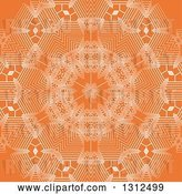 Vector Clip Art of Retro White and Orange Geometric Snowflake Background by KJ Pargeter