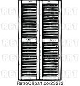 Vector Clip Art of Retro Window Shutters 1 by Prawny Vintage