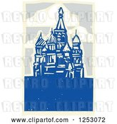 Vector Clip Art of Retro Woodcut of Kremlin in Moscow by Xunantunich
