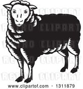 Vector Clip Art of Retro Woodcut Sheep by Patrimonio