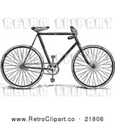 Vector Clipart of a Retro Bicycle by BestVector