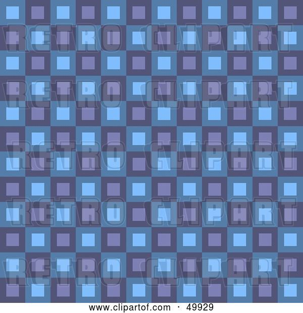 Clip Art of Retro Purple and Blue Square Patterned Background