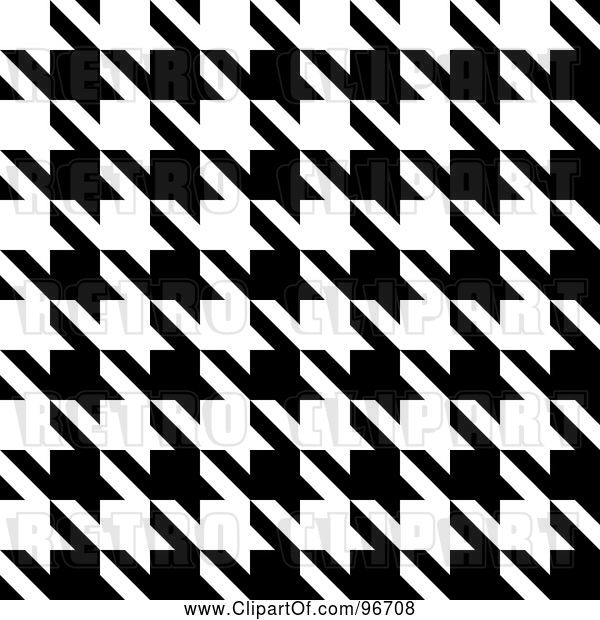 Clip Art of Retro Seamless Houndstooth Pattern Texture Background