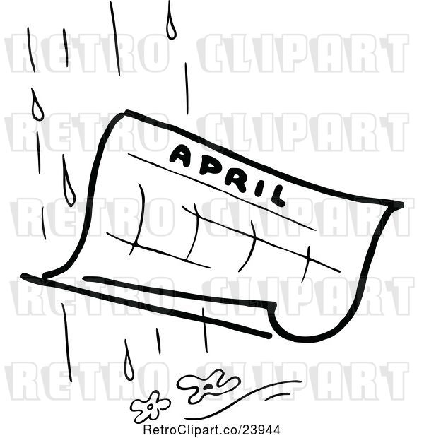 Vector Clip Art of April Showers