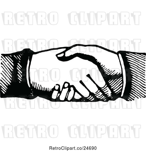 Vector Clip Art of Hand Shake