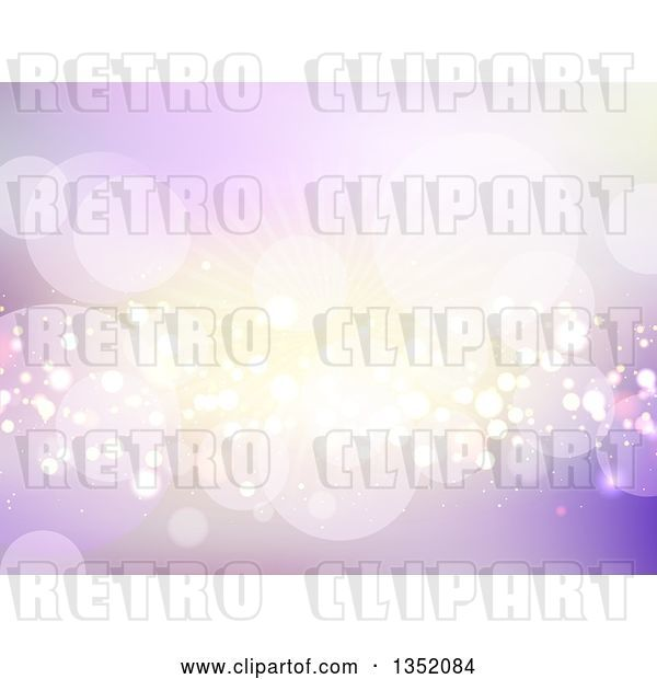 Vector Clip Art of Retro Background of Flares and Busts in Purple and Gold Tones