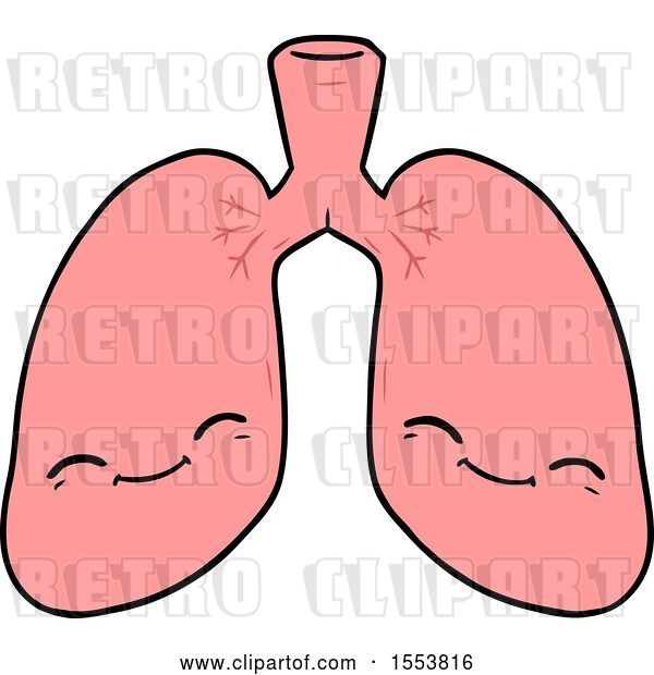 Vector Clip Art of Retro Cartoon Lungs
