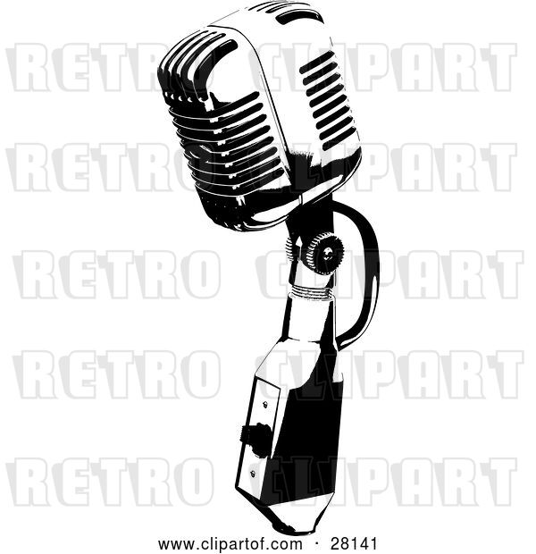 Vector Clip Art of Retro Microphone Speaker