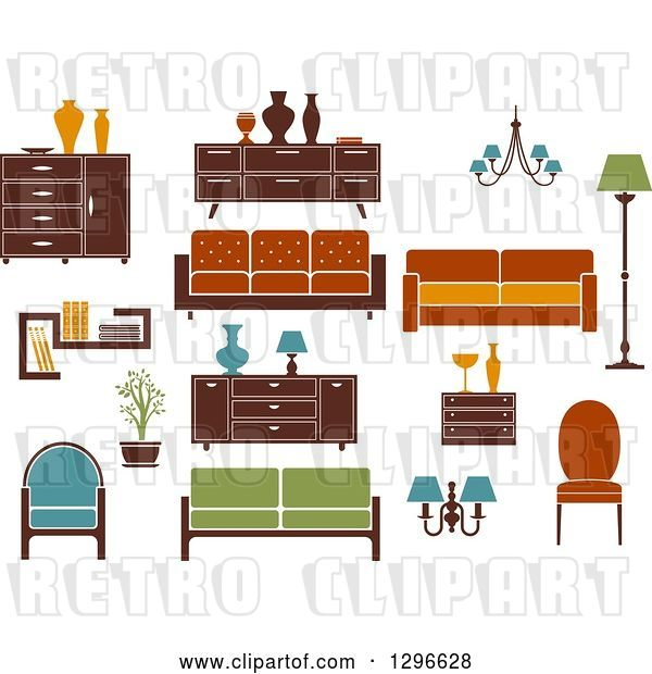 Vector Clip Art of Retro or Modern Furniture 2