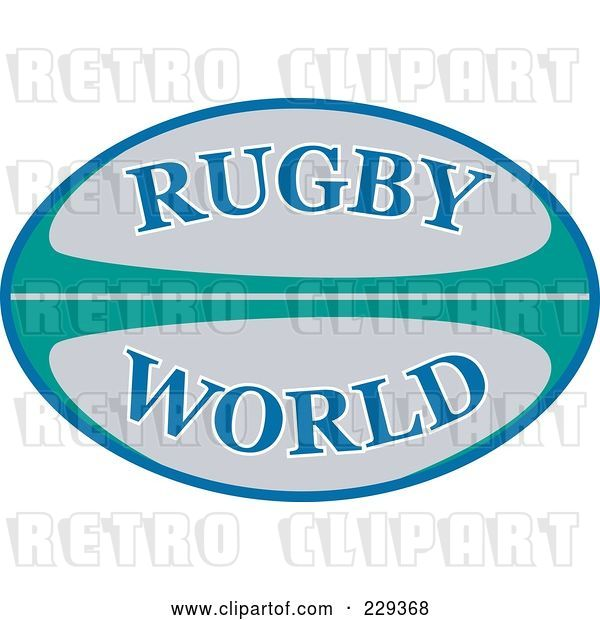 Vector Clip Art of Retro Rugby 2011 Icon - 4