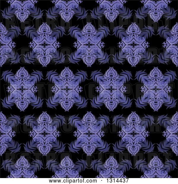 Vector Clip Art of Retro Seamless Purple Pattern Background