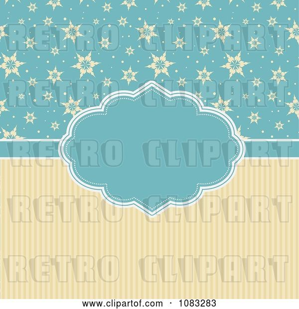 Vector Clip Art of Retro Yellow and Blue Christmas Star Background