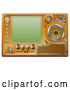 Vector Clip Art of a Retro Media Player Screen with Several Controls by AtStockIllustration