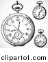 Vector Clipart of Retro Pocket Watches by BestVector